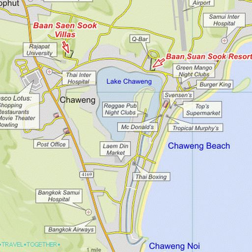 Chaweng Sketch Map